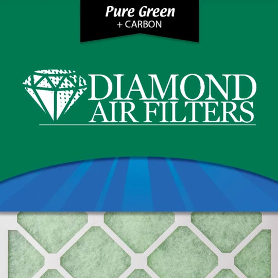 Diamond Filters - Pure Green Plus Carbon AC Furnace Air Filters
